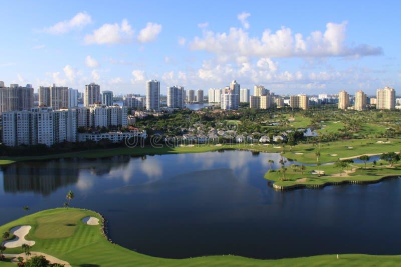 路线佛罗里达高尔夫球 库存图片
