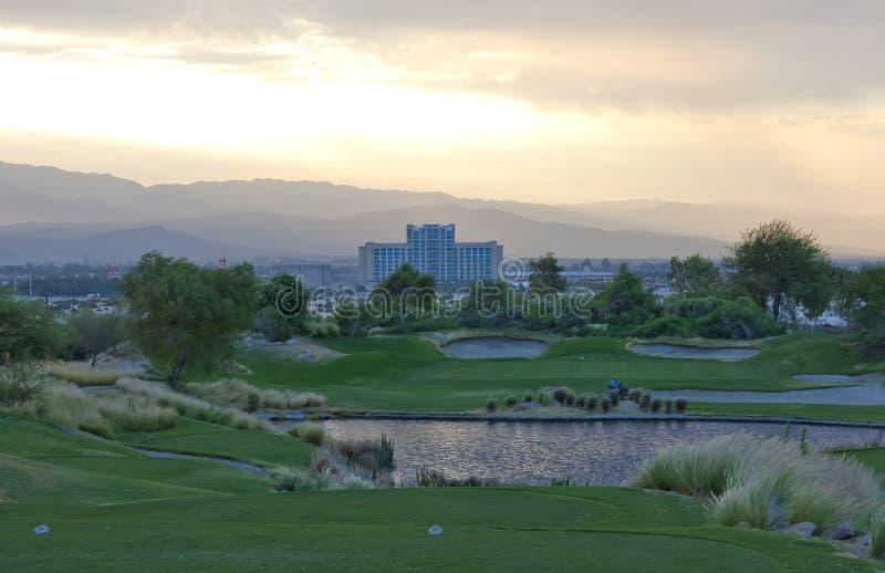 路线加利高尔夫球运动员 免版税库存图片