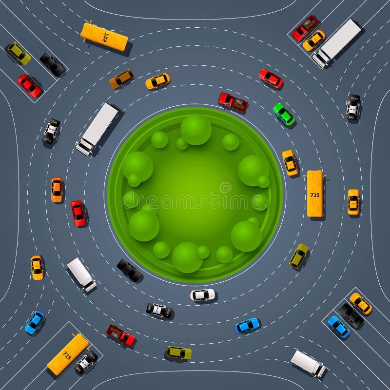路线地点,小汽车赛信息艺术盖子 向量例证