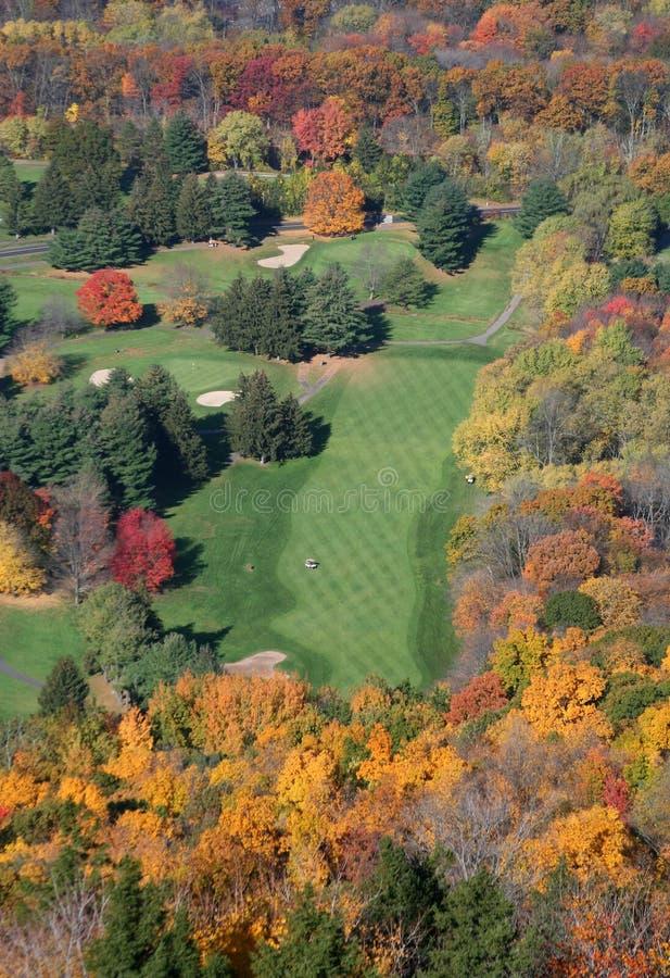 路线新英国的高尔夫球 图库摄影