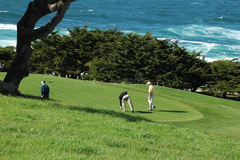 路线高尔夫球海洋 免版税库存图片