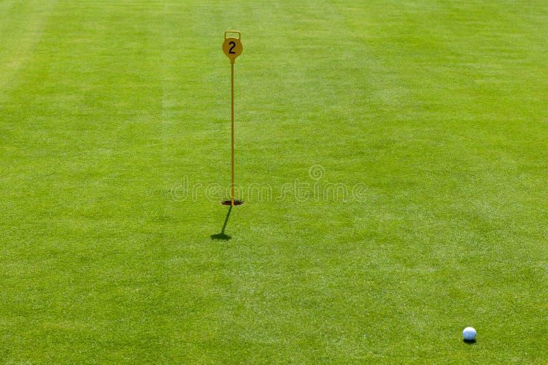 路线高尔夫球轻轻一击 库存图片
