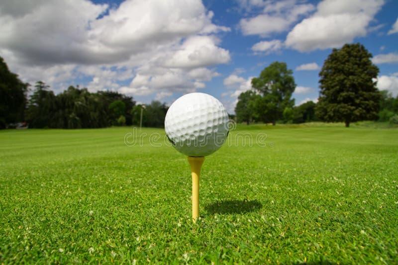 路线高尔夫球 图库摄影
