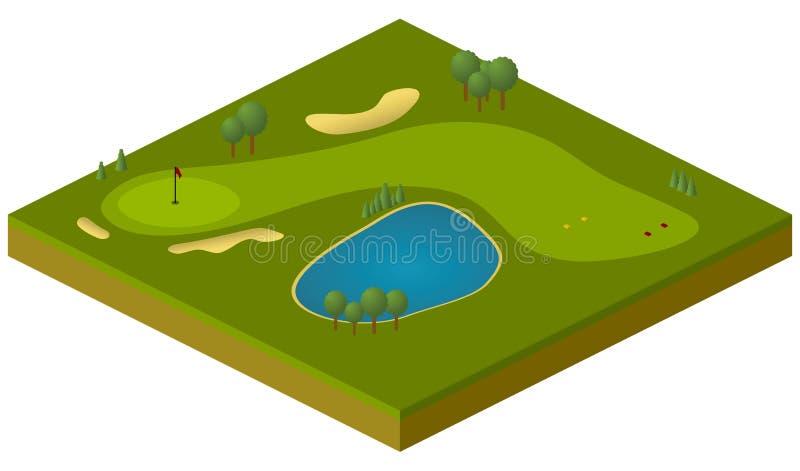 路线高尔夫球 库存例证