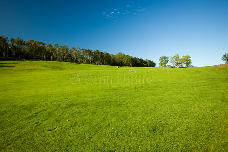 路线高尔夫球molle瑞典 免版税库存照片
