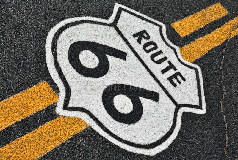 路线66在加利福尼亚,美国 免版税库存图片
