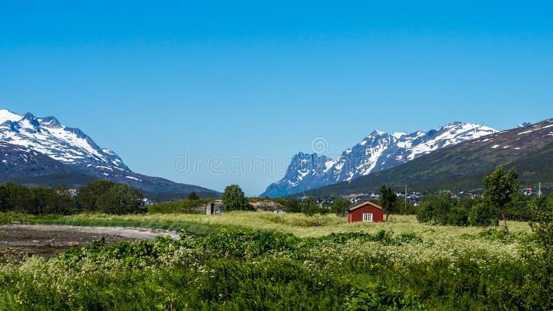 路线862在特罗姆斯,北挪威 免版税图库摄影