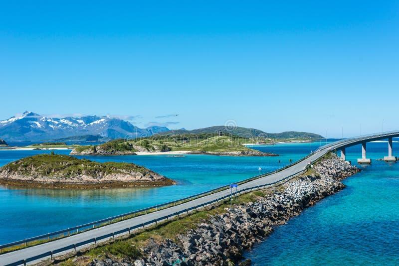 路线862在特罗姆斯,北挪威 免版税库存图片