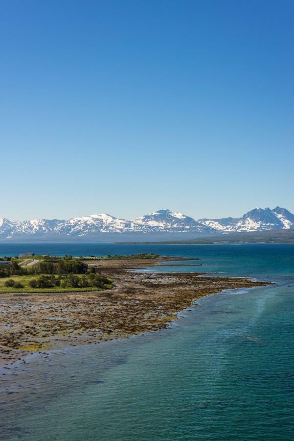 路线862在特罗姆斯,北挪威 库存照片