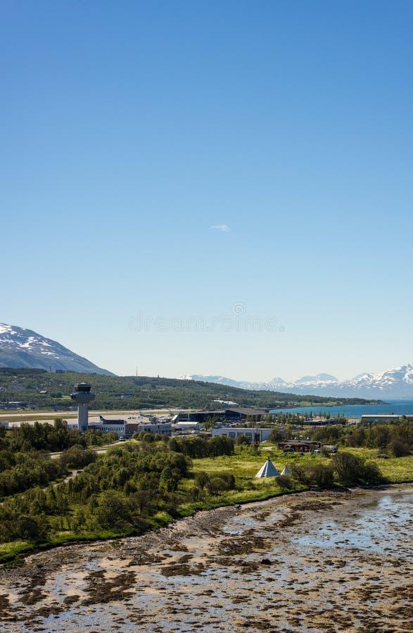 路线862在特罗姆斯,北挪威 免版税库存照片