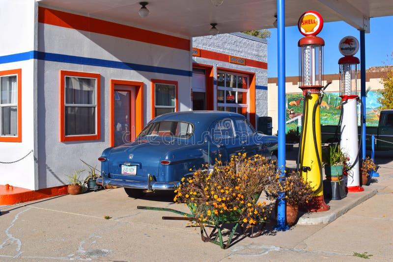 路线66,威廉斯,加油站博物馆 免版税库存照片
