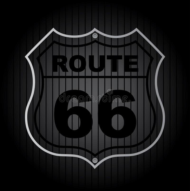路线66 向量例证