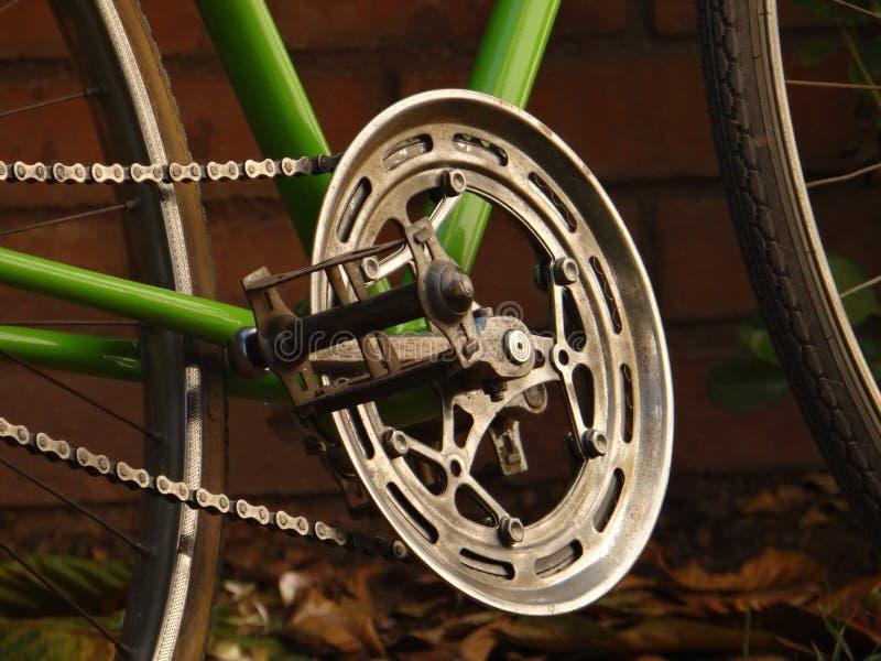 路自行车曲轴 库存照片