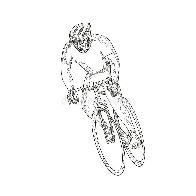 路自行车赛跑的乱画 皇族释放例证