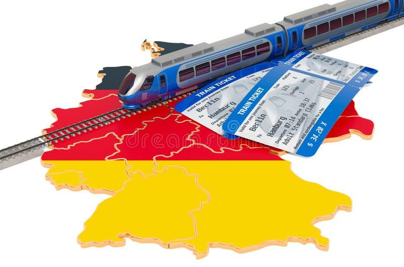 路轨旅行在德国,概念 3d?? 皇族释放例证
