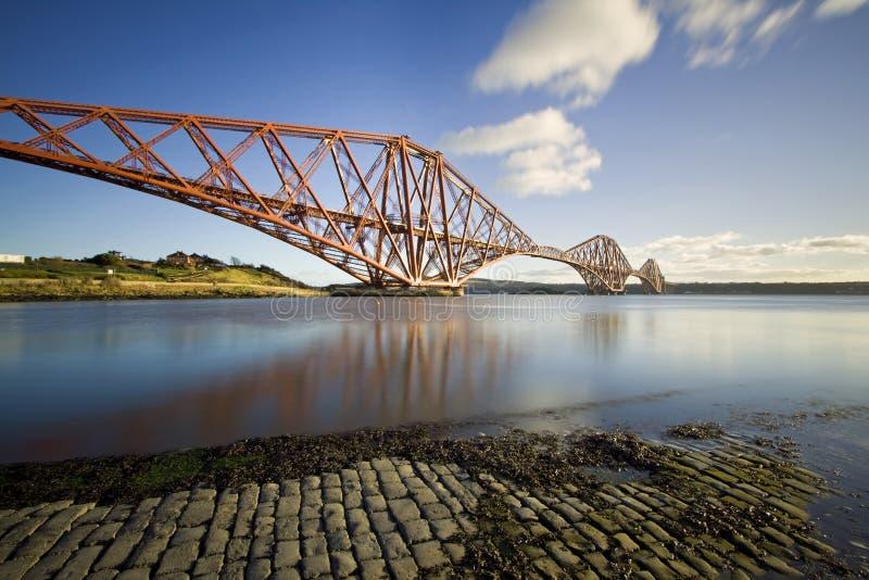 路轨桥梁,峡湾,爱丁堡,苏格兰 免版税库存图片