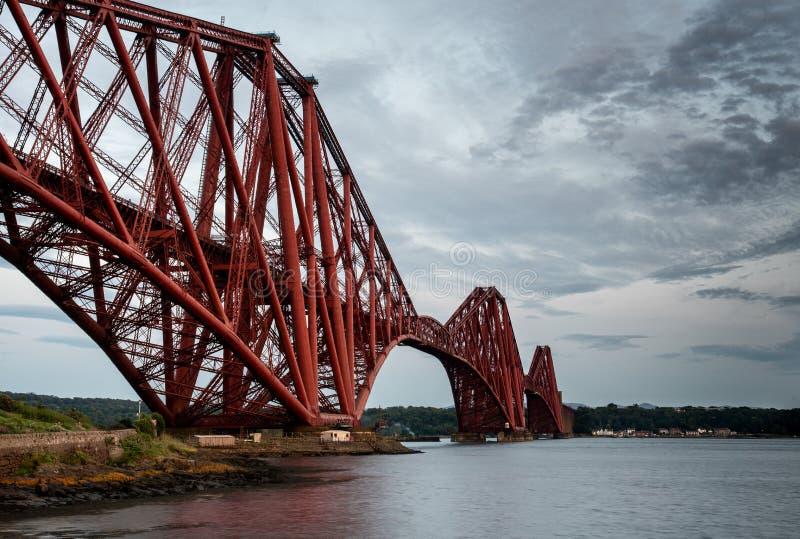 路轨桥梁,爱丁堡苏格兰 库存图片