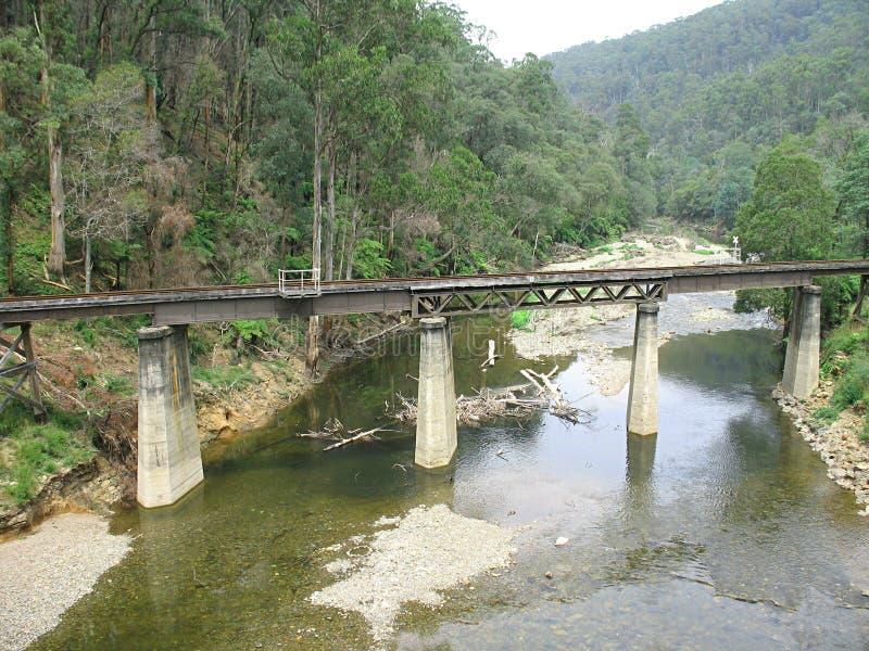 路轨桥梁, Walhalla 免版税库存照片