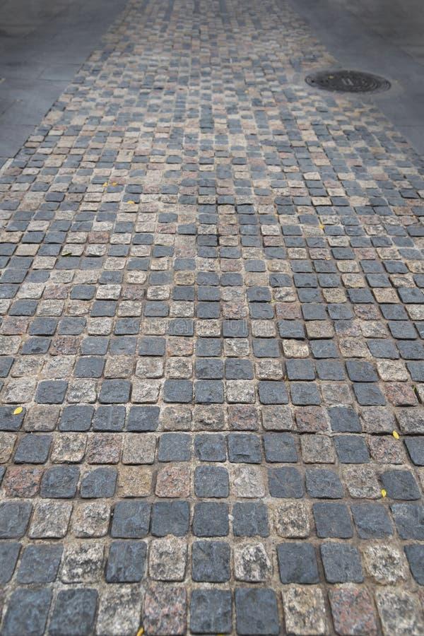 路铺了砖走道、背景和样式的石头 免版税图库摄影