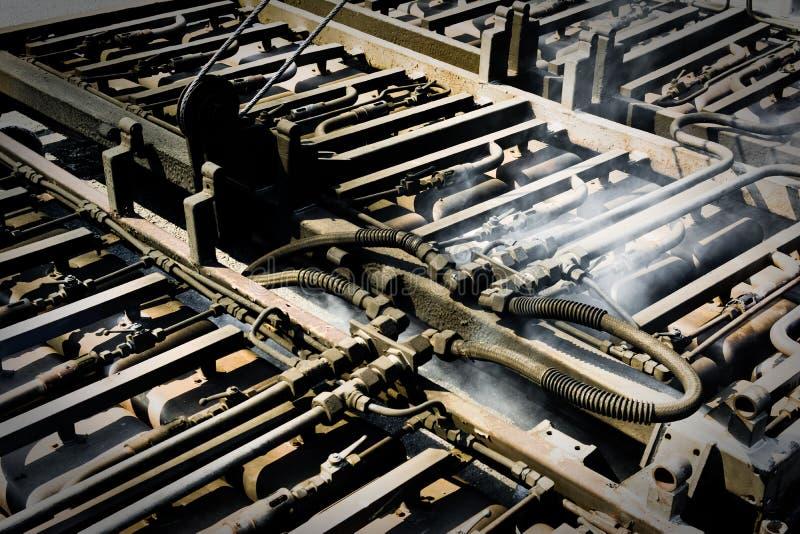 路铺的机器运转 免版税库存图片