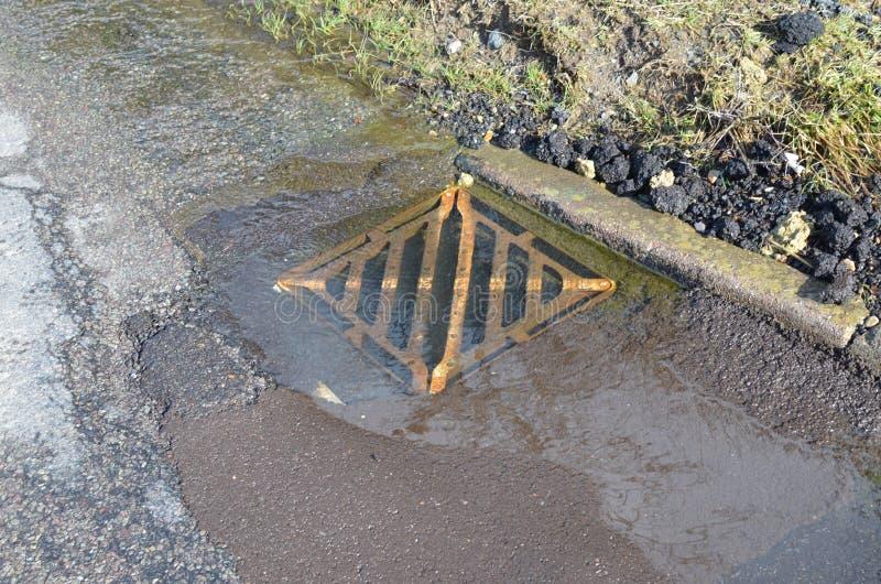 路水排水设备盖子 免版税库存照片