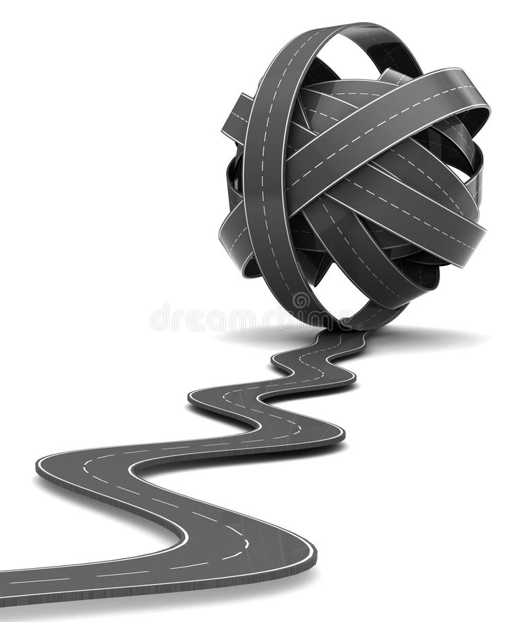 路结 向量例证