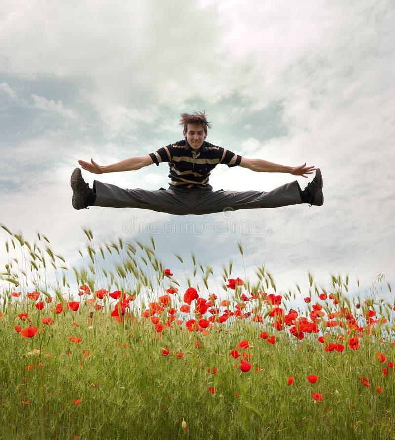 跳人天空 免版税图库摄影
