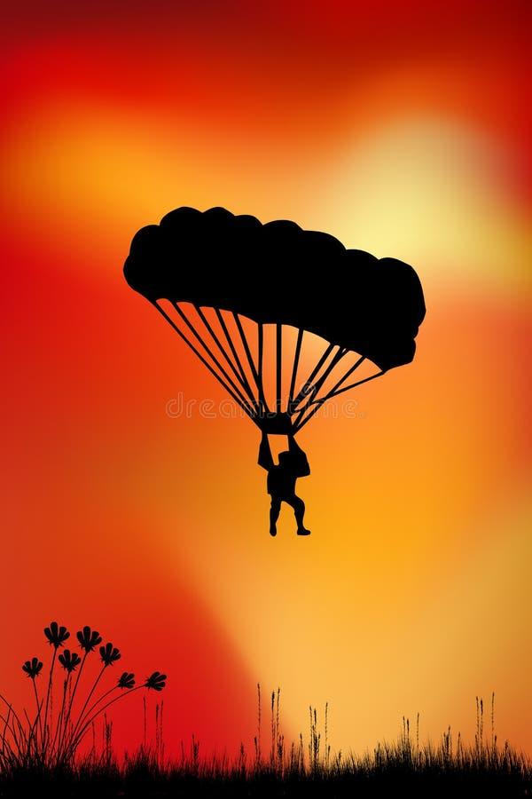 跳伞运动员 库存例证