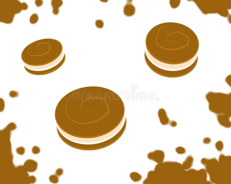 跳白色的曲奇饼 库存例证