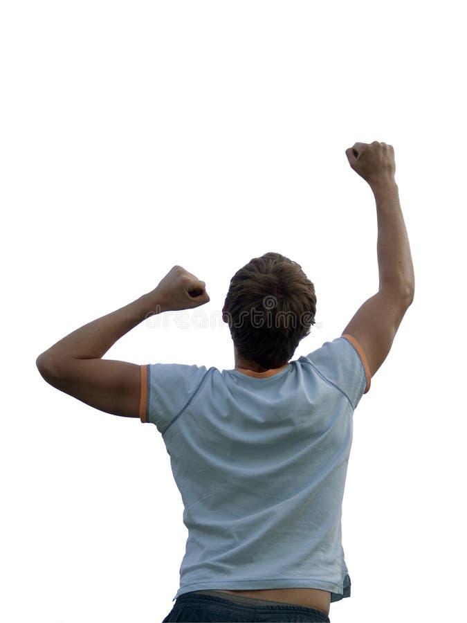 跳的人年轻人 免版税库存图片