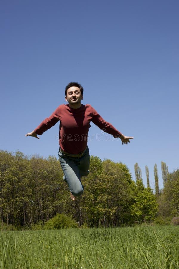跳的人 免版税库存图片