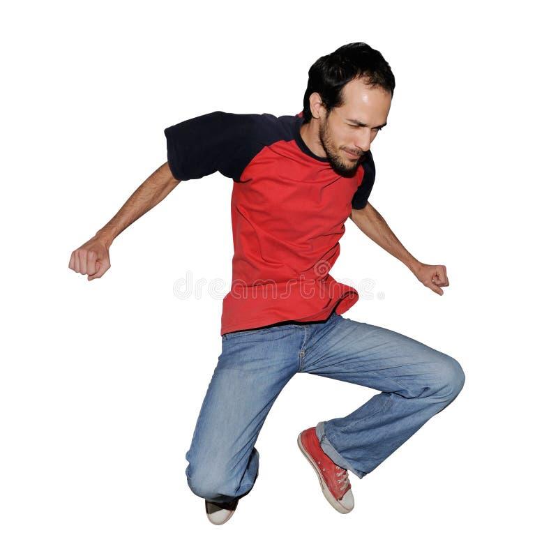 跳的人 免版税图库摄影