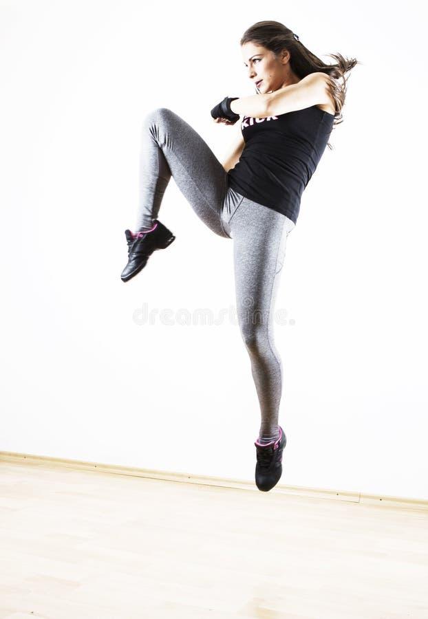 跳的妇女高 库存照片