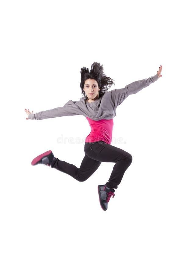 跳的妇女 库存照片