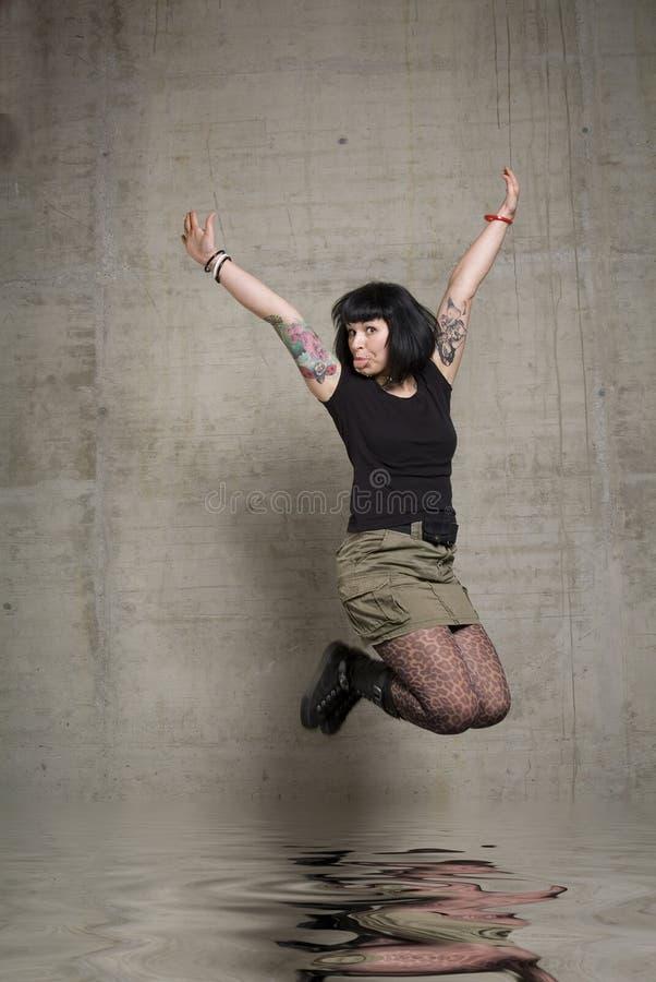 跳的妇女 图库摄影