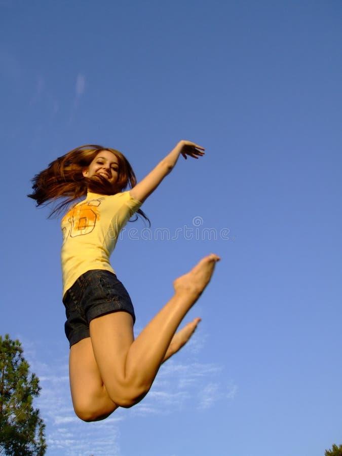 跳的妇女 免版税图库摄影