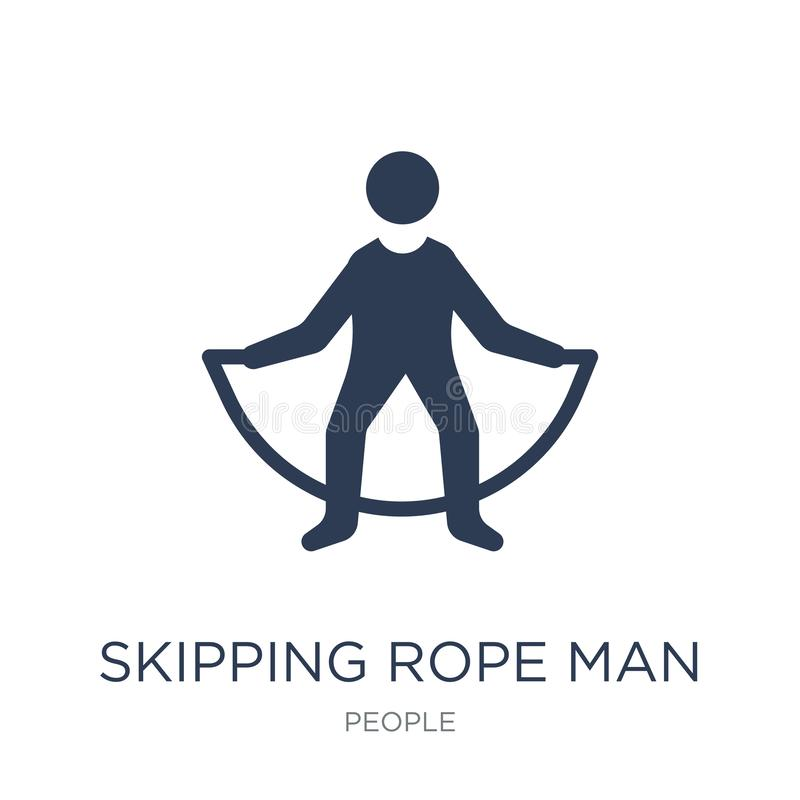 跳绳人象 时髦平的传染媒介跳绳人ico 皇族释放例证