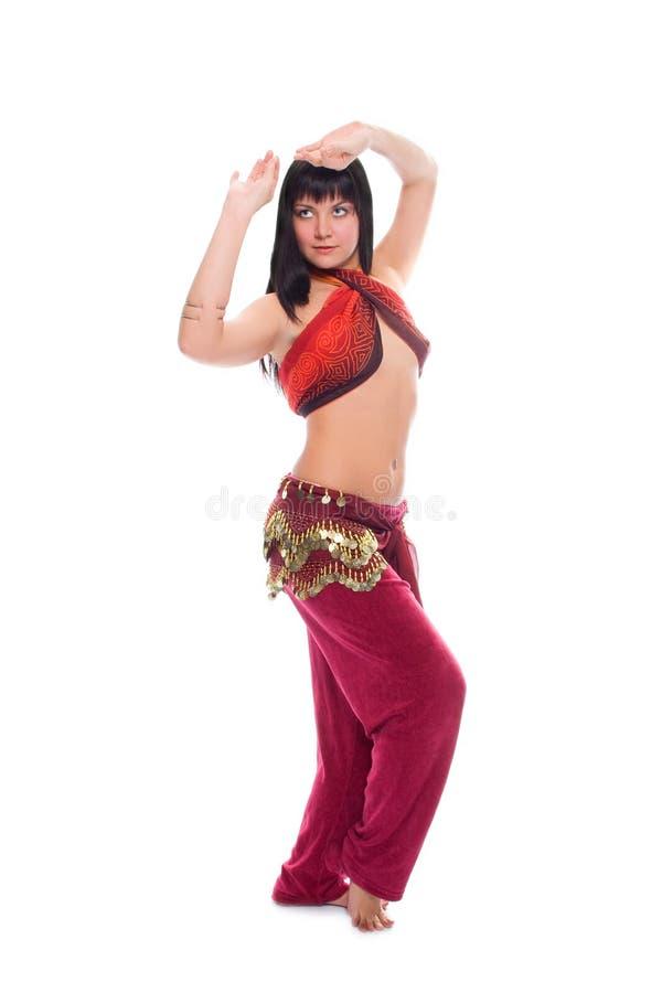 跳舞东部妇女的秀丽 库存照片