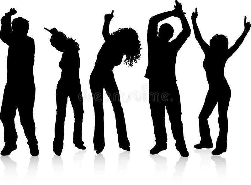 跳舞人 向量例证