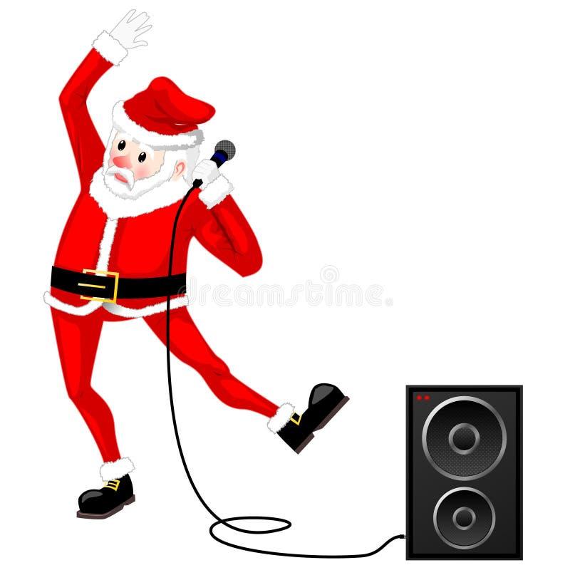 跳舞传染媒介的圣诞老人 皇族释放例证
