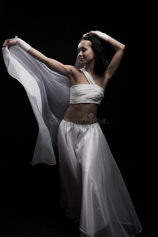 跳舞半暗 库存照片