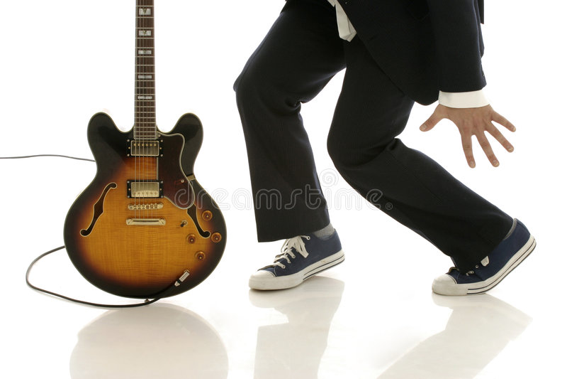 跳舞吉他 库存照片