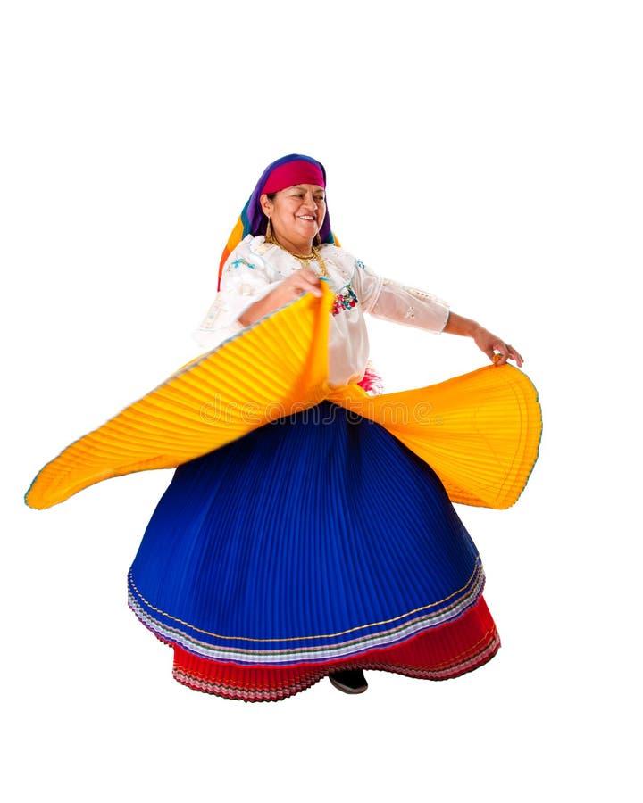 跳舞吉普赛拉丁妇女 免版税库存图片