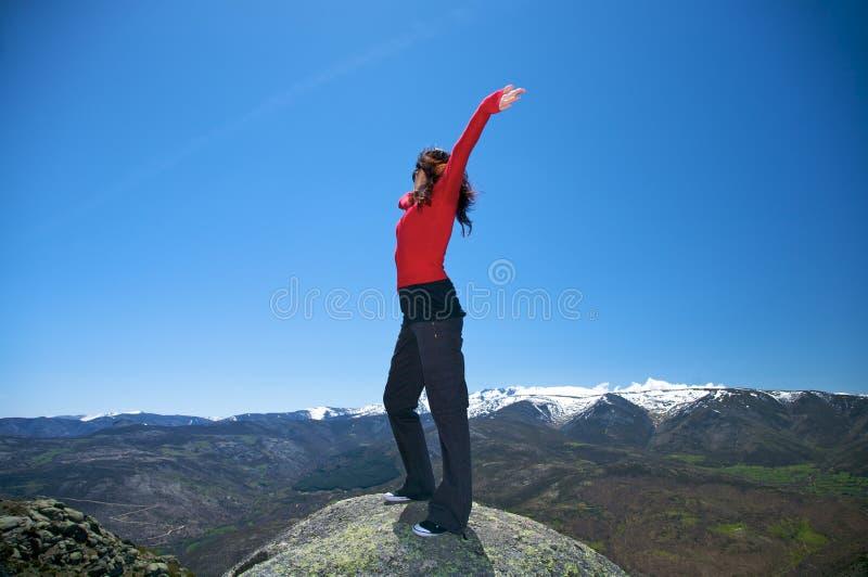 跳舞在顶层 免版税库存照片