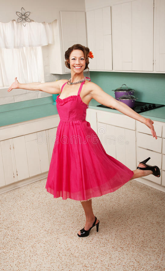 跳舞妇女 免版税图库摄影