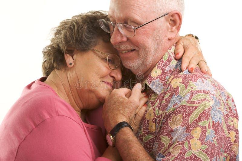 跳舞愉快的前辈的夫妇 库存图片