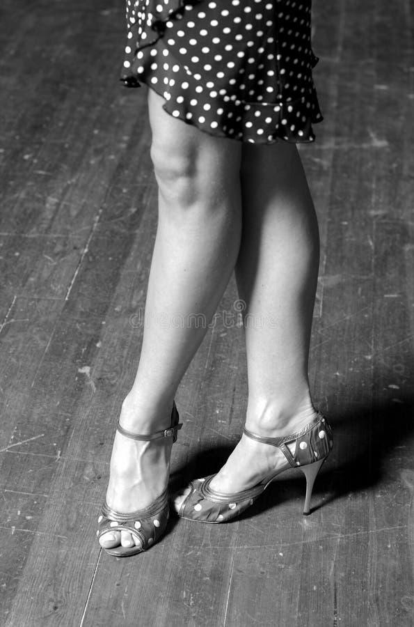 跳舞拖鞋 免版税库存照片