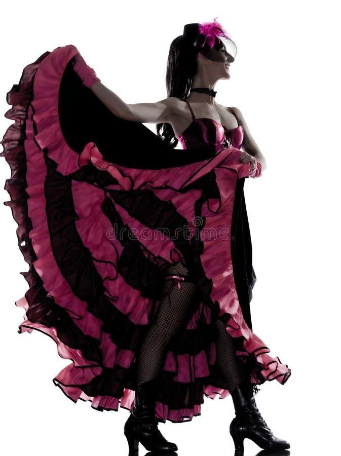 跳舞法国妇女的康康舞舞蹈演员 库存照片