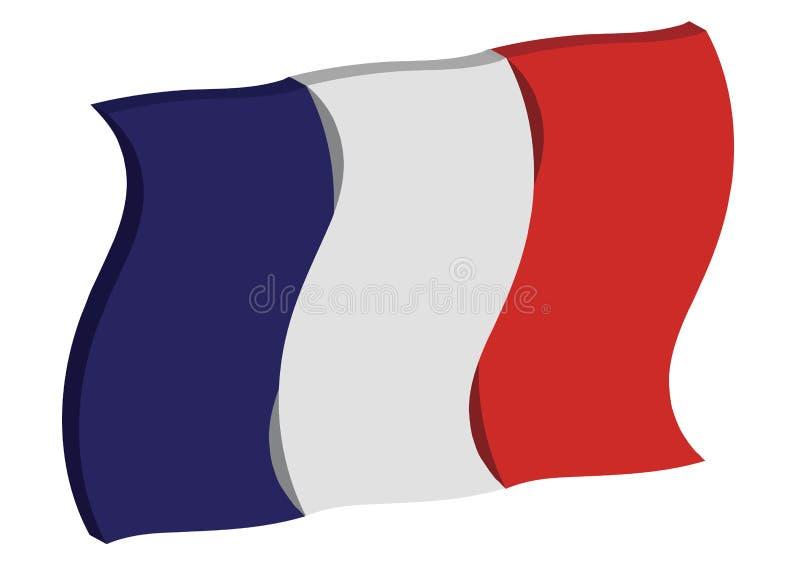 跳舞法国标志 免版税库存照片