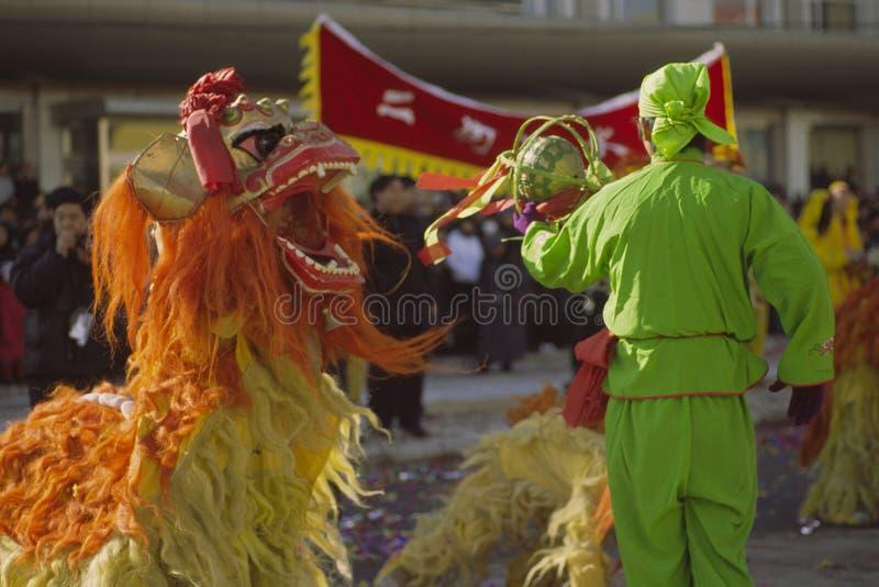 跳舞狮子 免版税图库摄影